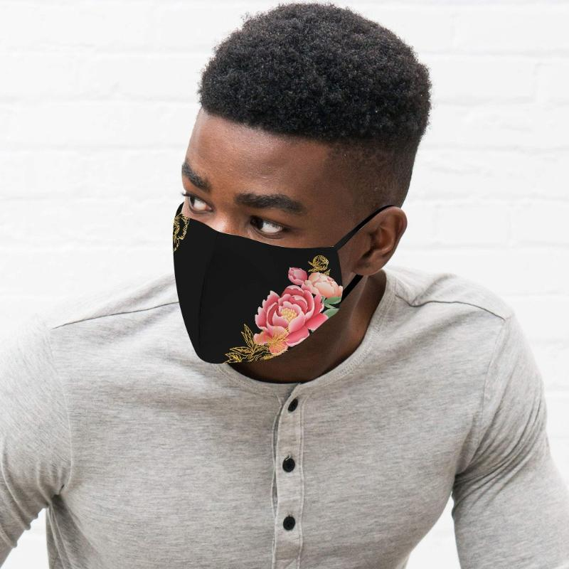 Maschera Viso PM2.5 traspirante unisex tessuto maschere di protezione Pm 2,5 bocca della polvere del rivestimento lavabile riutilizzabile Bocca Mascarillas