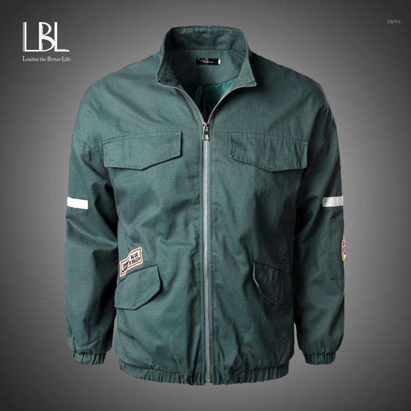 Мужские куртки мужские бомбардировщики Осенняя пилотная куртка мужская 2021 мода бейсбол бейсбол хип-хоп хмель тонкий подходит для пальто надоестков