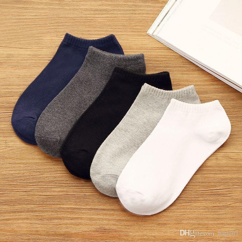 2020 Fashion Spring Summer Mens Boat Sock Men Women High Quality Socks Mens Basketball Sport Sock Teenager Cotton White Socks One Size