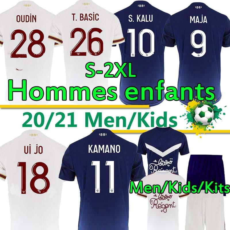 Взрослые Kids Kits Girondins de Bordeaux Maillot De Футбольная футболка 2020 2021 Футбольные трикотажки S.kalu Ben Arfa Maja Oudin T.Basic Мужчины Тайская форма