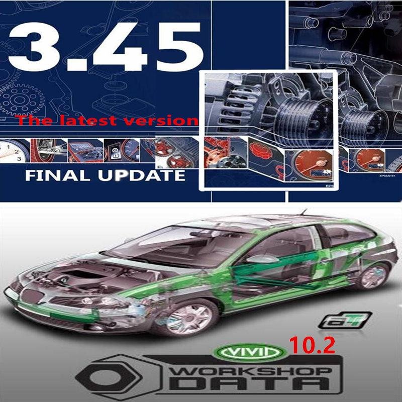 2020 Hot selling Latest version auto--data 3.45 version vivid workshop v10.2 for repair soft-ware Europe of automotive database