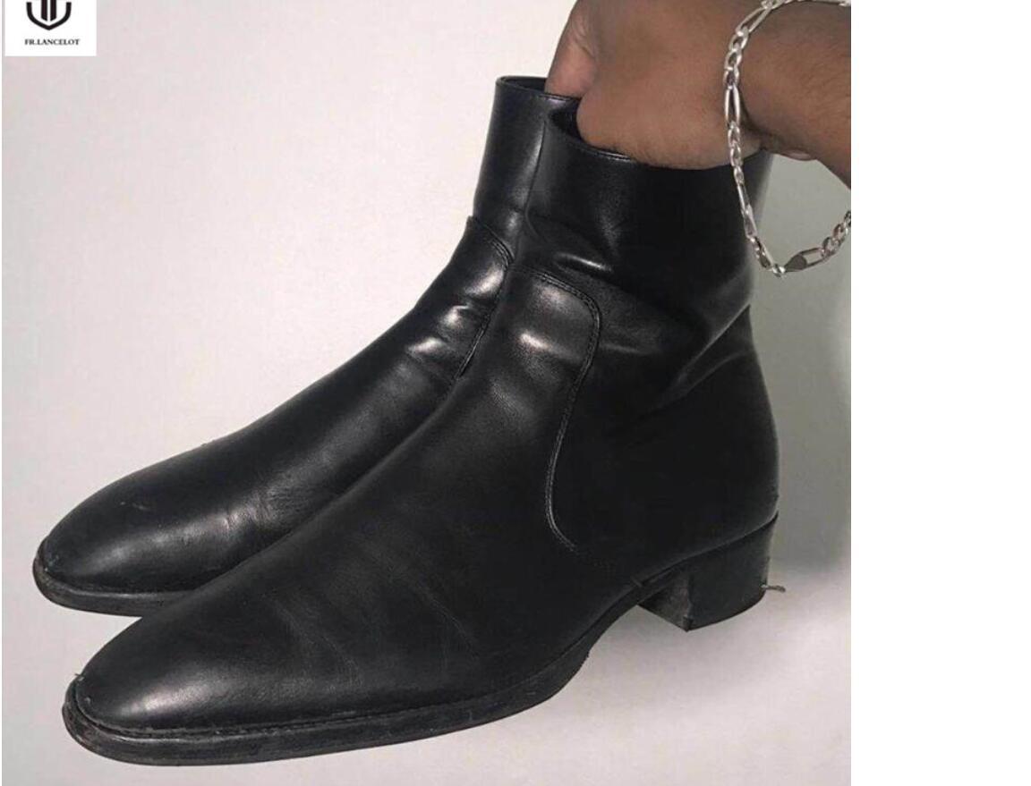 2020 neue Leder Männer beuten zip alten Schule Stiefel schwarz alten Stil Ankle Boots Herrenmode Partei Schuhe vintage up