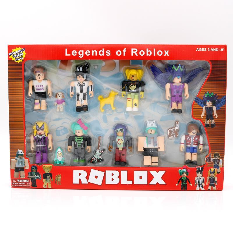 Roblox World 9 그림 팩 7cm 모델 인형 소년 어린이 장난감 Jugetes 인형 컬렉션 아이버 크리스마스 선물 어린이 Y0112