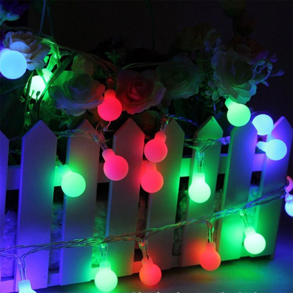 휴일 파티 웨딩 홈 야외 장식 220V EU 플러그 4M (28) LED RGB 매트 볼 LED 문자열 조명 크리스마스 화환