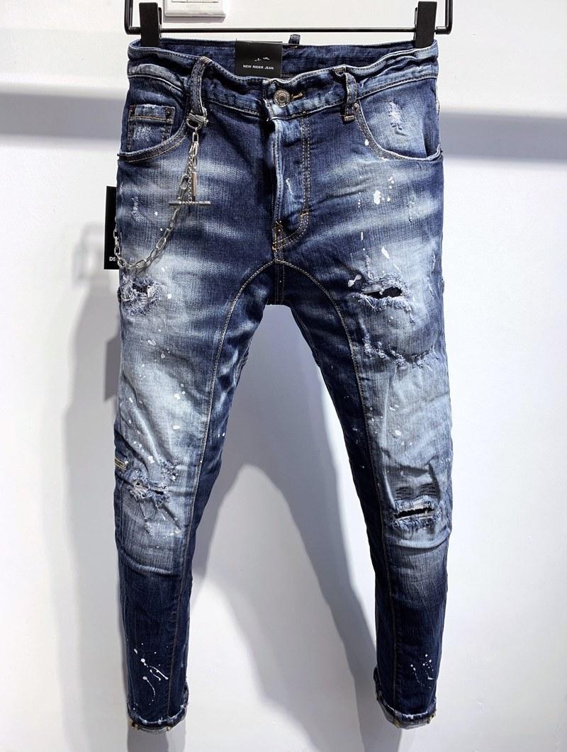 2020, nowa marka Moda Europejska i Amerykańska Letnia Noszenie Dżinsy są męskie dżinsy DS361