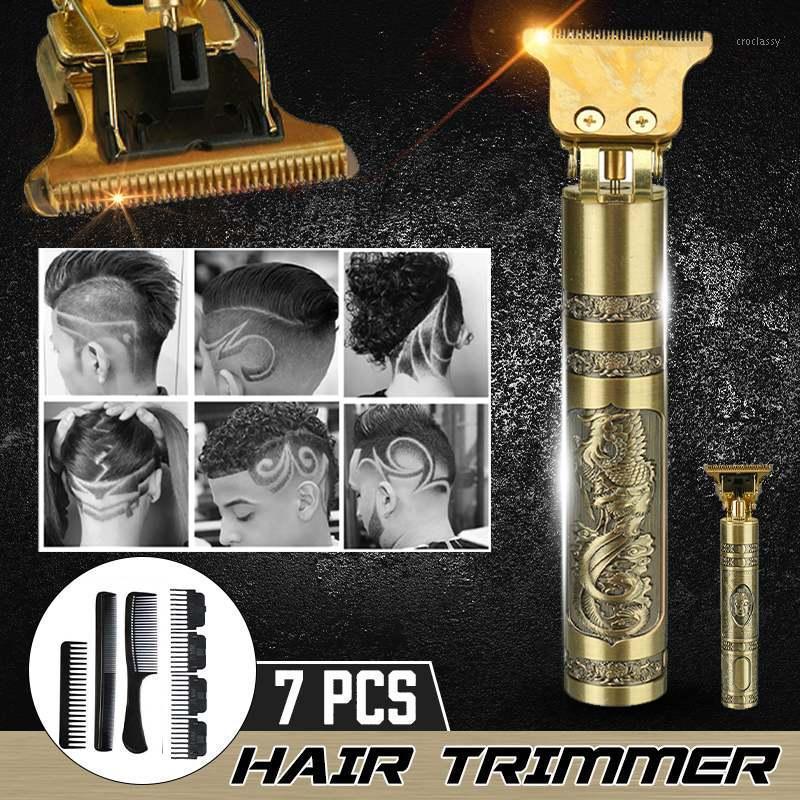 Clippers per capelli USB Ricaricabile Clipper elettrico Trimmer Barba Rasoi Rasoi da uomo Bordless Baldheadhed Taculach Machine con regalo1