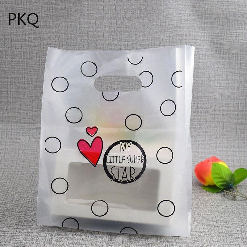 50pcs neue Backen Plätzchen Transparente Verpackung Beutel Hochzeit Kunststoff-Geschenk-Beutel mit Handgriff Einkaufstasche Kuchen Brot Lagerung Nhg8 #
