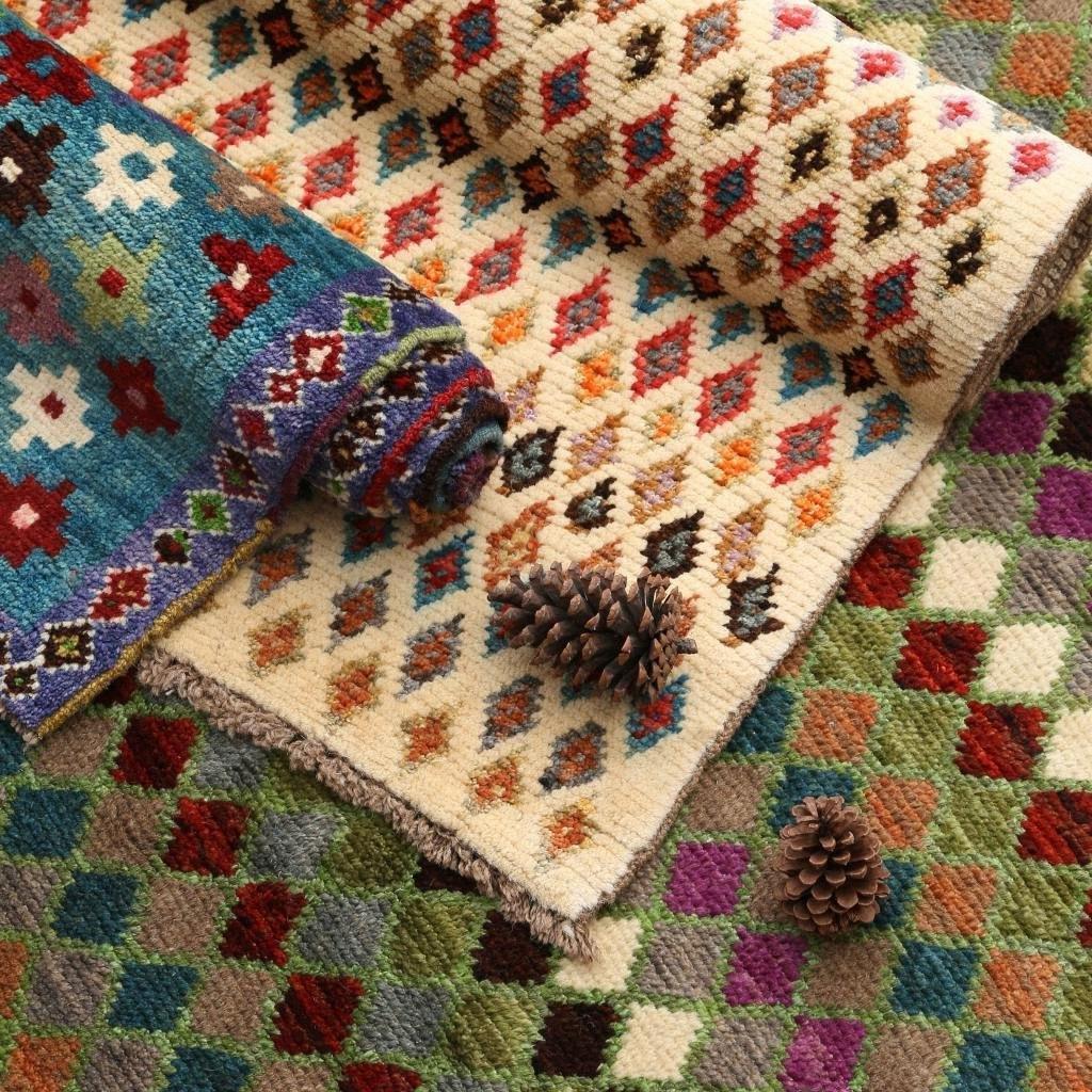 Manual de lã antigo Coleção Nível Tapete Modern Europa do Norte Botânica Dye Proteção Ambiental Terra Pad Tapestry bgZp #