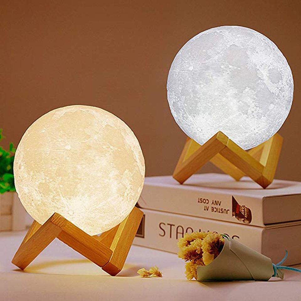 Xsky 3D Print Moon Light Touch переключатель Настольные лампы Стеллаж Bedroom Usb Led Night Light Home Decor 3d лунные огни творческие подарки 1022