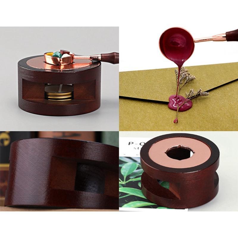 Vente chaude Timbre Vintage Sceau de cire Perles Bead Stick Terrail Stick Stick Bâton de fonte Four de colle / Cuillère Tool Poêle Pot pour Bougie de timbre d'étanchéité