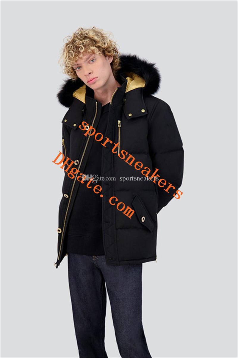 Minnentonka Mens Mise à jour 3Q Jacket à capuche avec un véritable collier de fourrure de renard Älgknogar Doudoune DHL FedEx FedEx Puffy Dunjacka