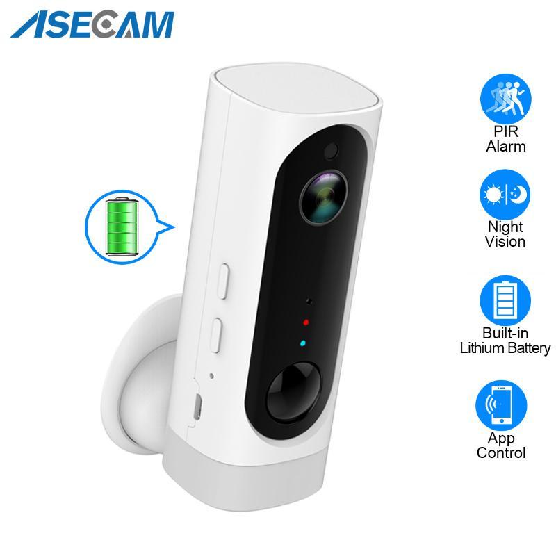 100% de alambre Batería libre de WiFi de la cámara de la batería recargable Desarrollado 1080P Full HD cubierta de seguridad inalámbrica IP Cam 130 Gran Angular