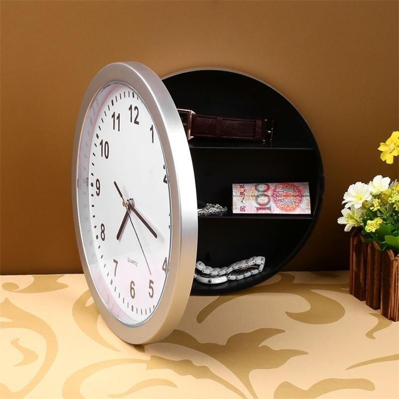 Ювелирные изделия Организатор Унисекс Высокое Качество 19JUL1 Ящик для хранения Настенные Часы Часы Секретные Сейсы Часы для Stash Деньги Cash LJ201211