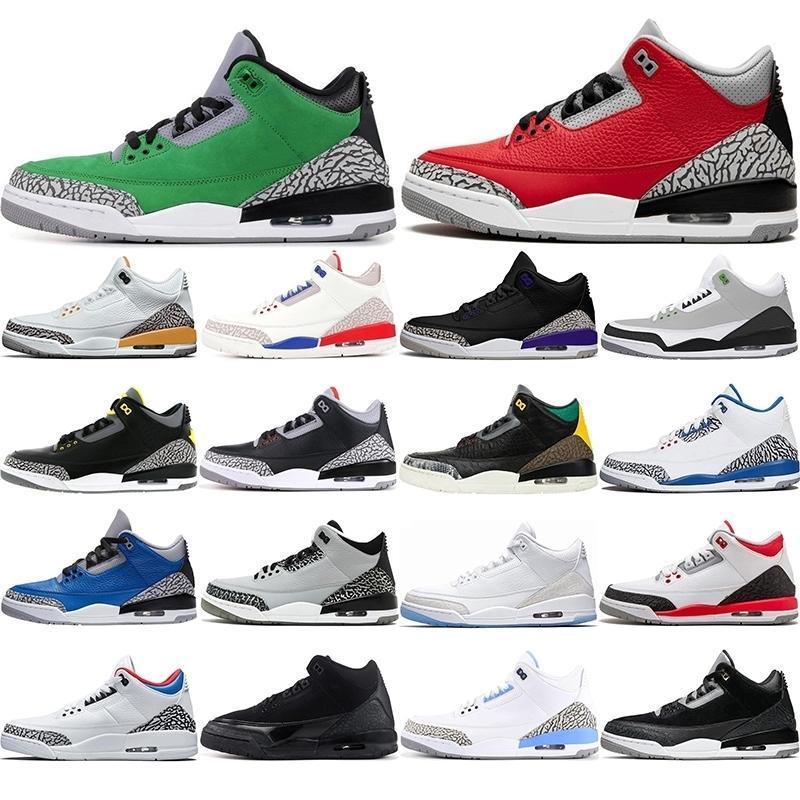 С бесплатными носками горячего нового прибытия jumpman 3 uncs 3s мужские женские баскетбольные туфли фрагменты рублей конечных соперников сатин Чикаго кроссовки 40-47