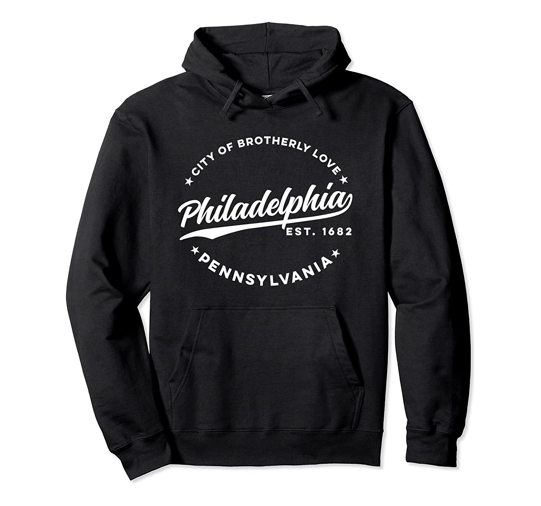 Урожай Филадельфия Город Братской Любви White Text пуловер Толстовка унисекс Размер S-5XL с Цвет черный / серый / ВМС / Royal Blue / Dark Heather