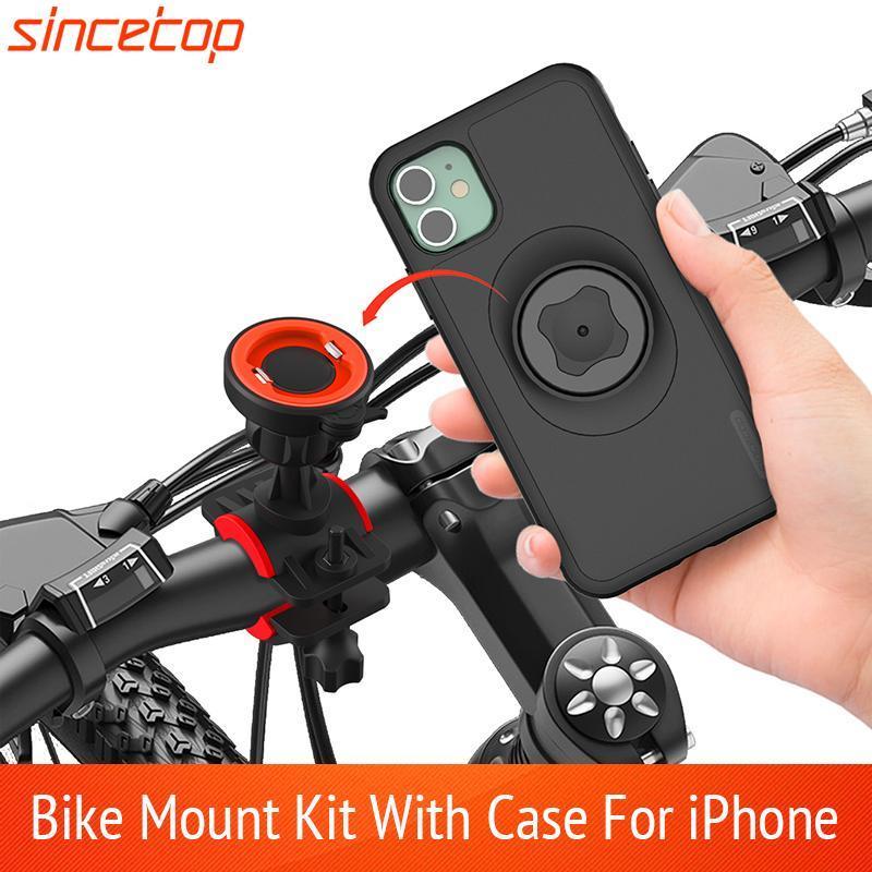 Bicicleta Mount Motorcycle Case Holder Holder Cell Handlebar Bike Bike Bracke com telefone de choque para proteção de suporte 11 pro max gfemt