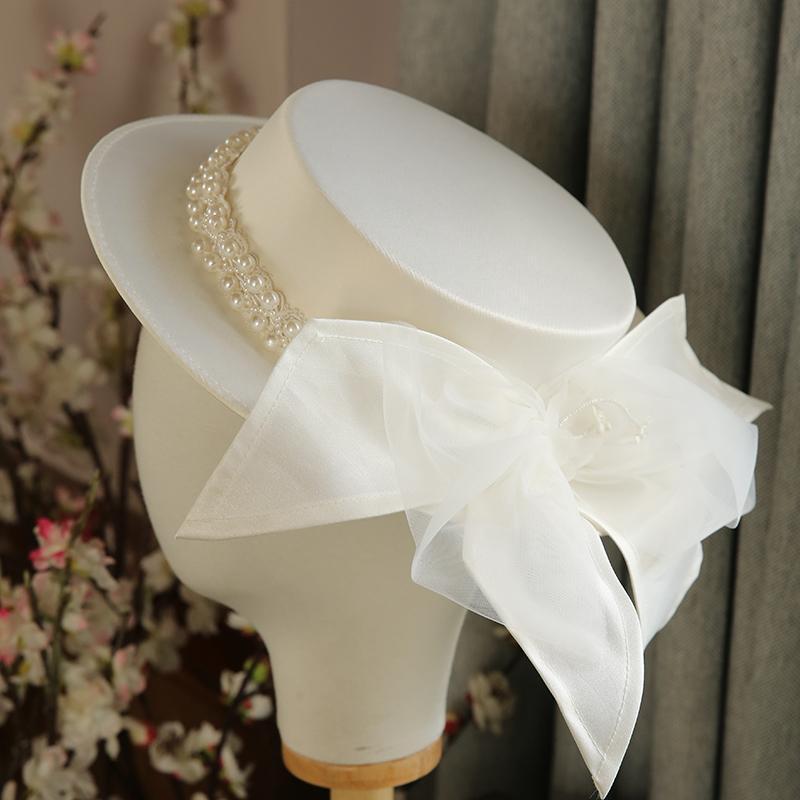 STINGY Breim Hats Женщины Большой фашинатор шляпа Коктейль Свадьба Головной убор Мода Головные уборы Формальные Цветочные Аксессуары для волос