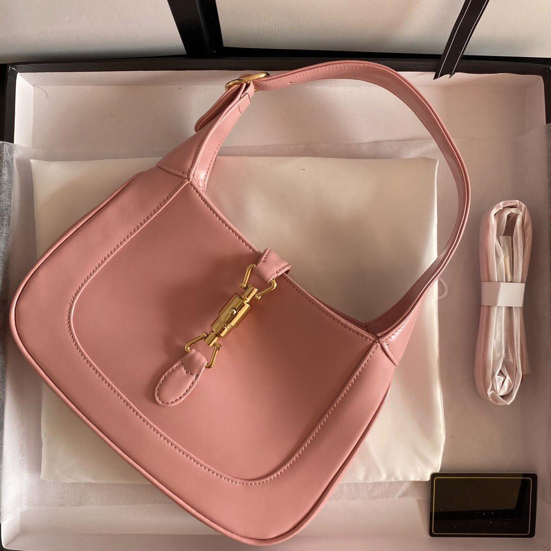 Последние дизайнеры Jackie Designers Mini Tote сумка для женщин Crossbody Luxurys кожаные сумки на плечо дамы на открытом воздухе сумки подмышечные кошельки 1961 летний цвет розовый
