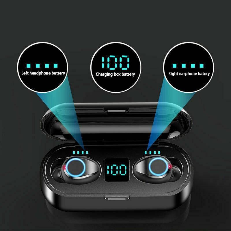 Bluetooth 5.0 Headphones Headset TWS Wireless In Ear Sport Stereo Earphone IPX6