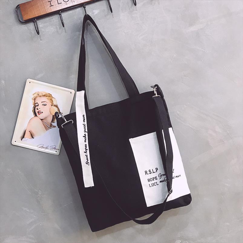 Nova tela de pano Bolsas Saco de Compras Viagem Mulheres cliente Eco reutilizável ombro Shopper Bolsas Bolsas de tela saco de praia