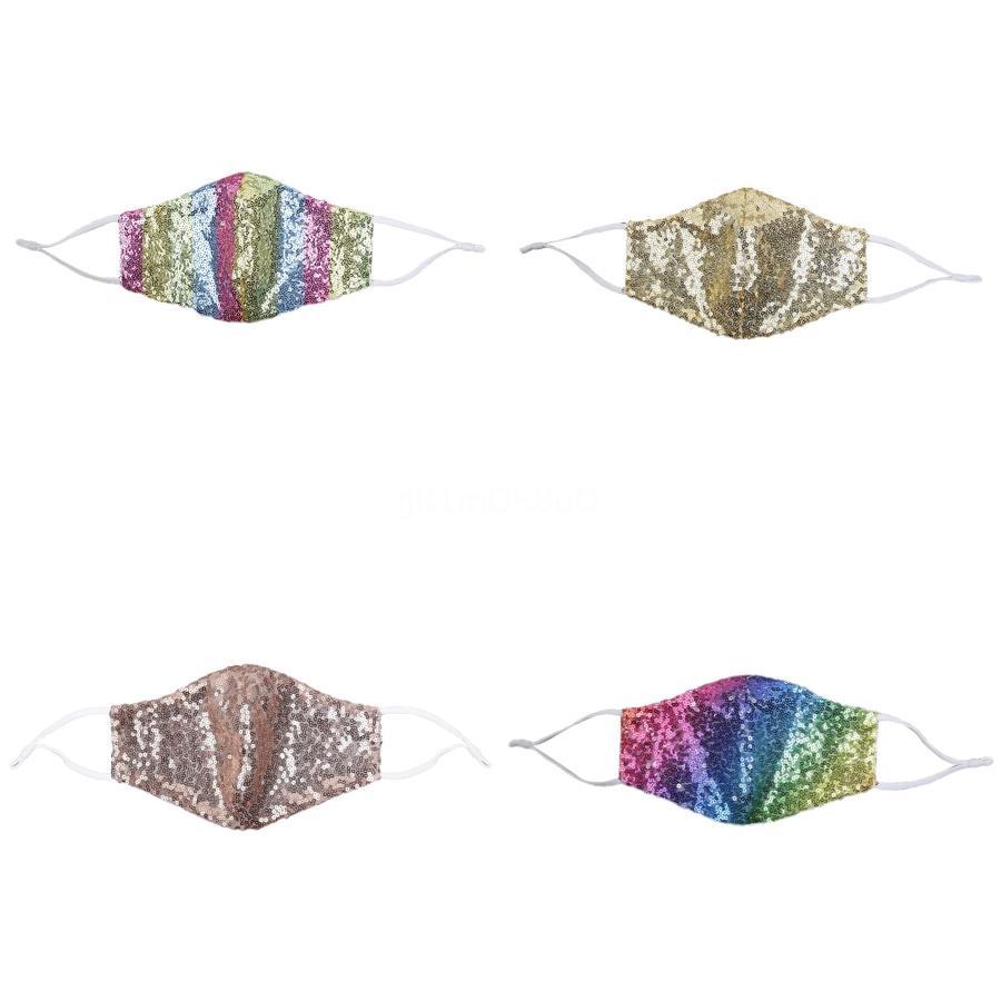 Sip Fasion побрякушки побрякушки блестки Защитная маска пылезащитный MoutWasable Повторное использование маски Упругие ушной Mout маска # 434 # 888 # 365