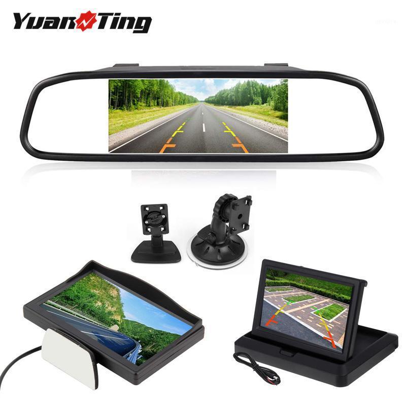 YuanTing LCD Car TFT Display Desktop / Foldable / Mirror Monitor 5'' Video PAL/NTSC Auto Parking for Rearview Backup Camera1