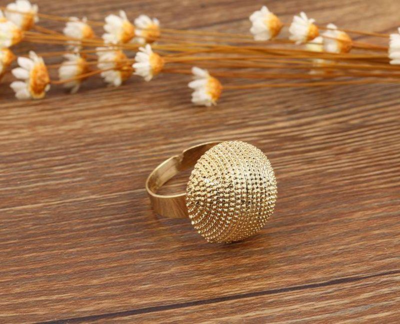 Kadınlar Moda Kalp Honeycomb Altın Yüzük Ayarlanabilir Vintage Kadın Halkalar Büyüleyici Mücevher Açık HALKALARI Açıldı