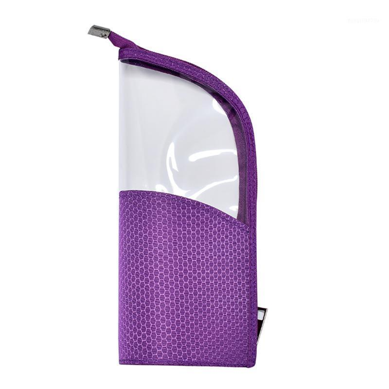 Soporte de cepillo de cierre con cremallera Portátil Portátil Portátil Organizador Multifunción Viaje Cosmético Maquillaje Bolsa Medio Transparente1