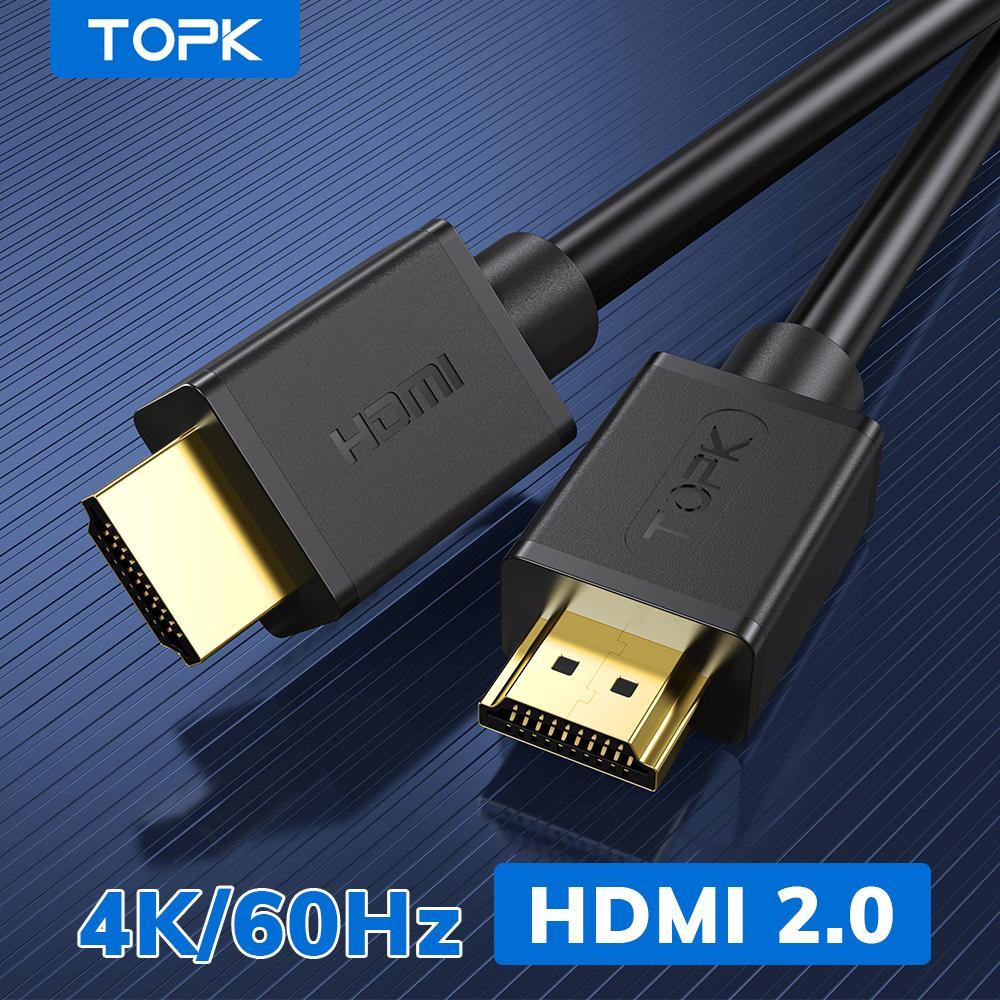 Topk 4K / 60Hz Splitter HDMI a cavo HDMI per Xiaomi MI Box Audio Cable Switch Splitter per TV Box PS4 HDMI