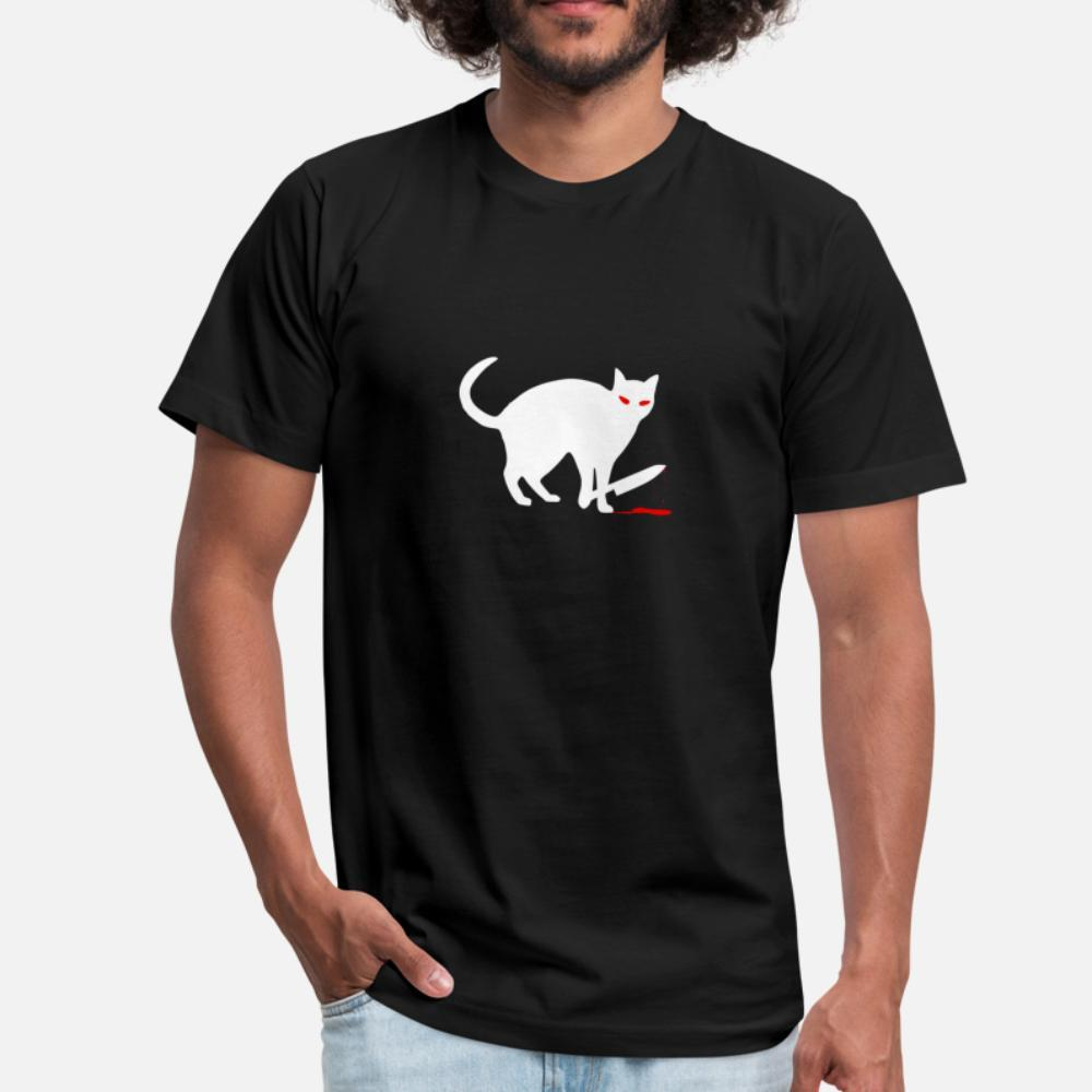 Funny Cat Knife Bloody Halloween Costume T Shirt di alta qualità Stampa digitale Vintage Tracksuit Felpa con cappuccio Felpa con cappuccio