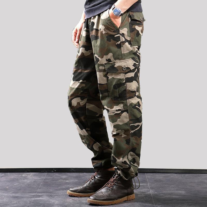2021 Cargo Pants Men Outwear Multi Pocket Tactical Army Straight Slacks Pants Male Overalls Zipper Pocket trouser