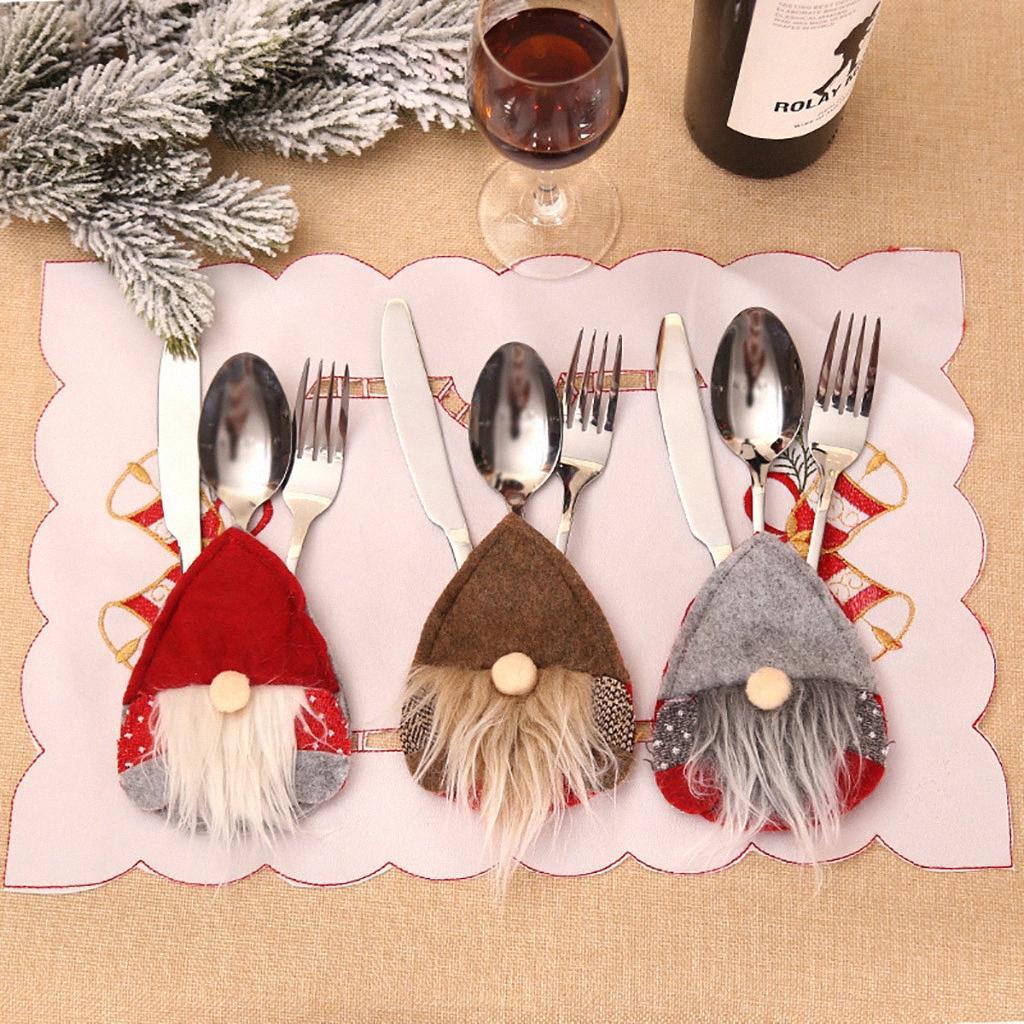 Accessori per la Navidad 2020 1 panno di articoli per la tavola di copertura del cappello di Natale Per la casa natale del partito / decorazione di Natale layout Dinner Table FN65 lxvn #