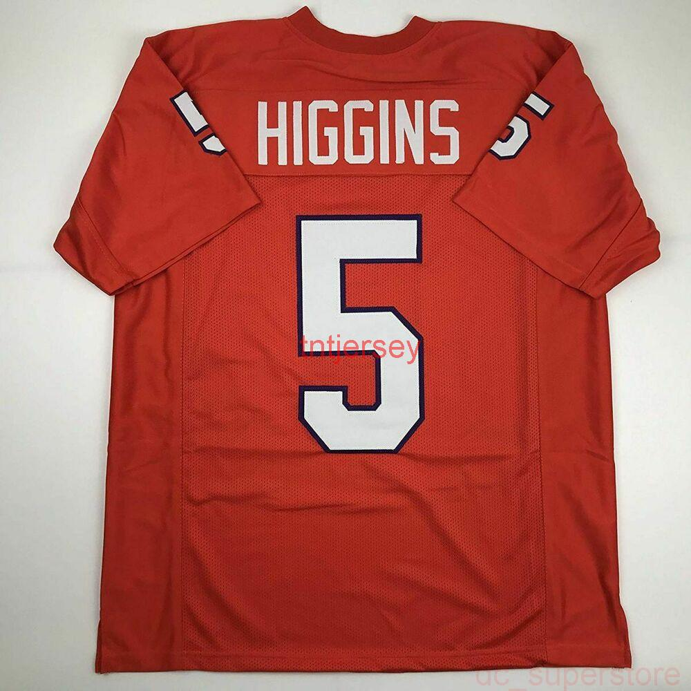 Ucuz Özel Yeni Tee Higgins Clemson Orange Koleji Dikişli Futbol Jersey Herhangi bir isim numarası ekle