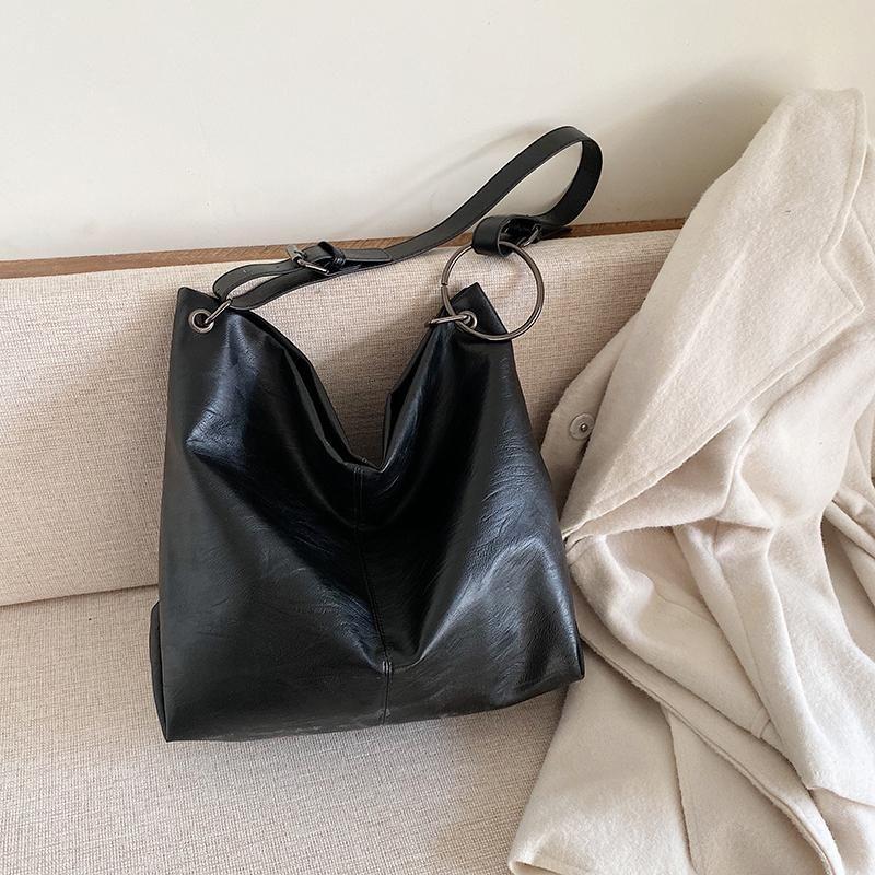 Patchwork Sacs en cuir Sacs de godets pour Messenger 2020 PU Sacs à main d'épaule Lady Summer Femmes Sac Femme Travel Bandbody QCoII