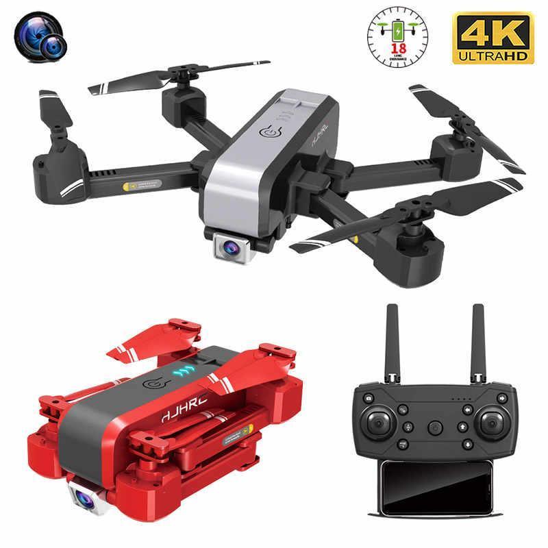 HJ96 2020 Нового RC Drone 4K HD двойного объектив Профессиональных аэрофотосъемки Вертолет Гравитация зондирование Складной Quadcopter Детские подарки