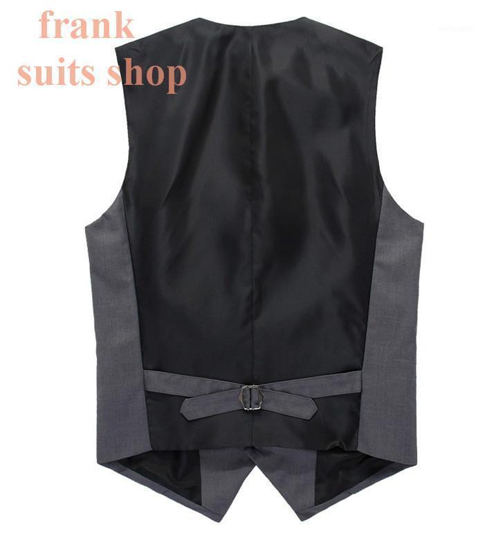 Hombres Traje Chaleco 2021 Hecho a medida Nuevo diseñador de marca Vestido de negocios formal Beckham Chaleco Slim Fit Gilet Modelo sin mangas1