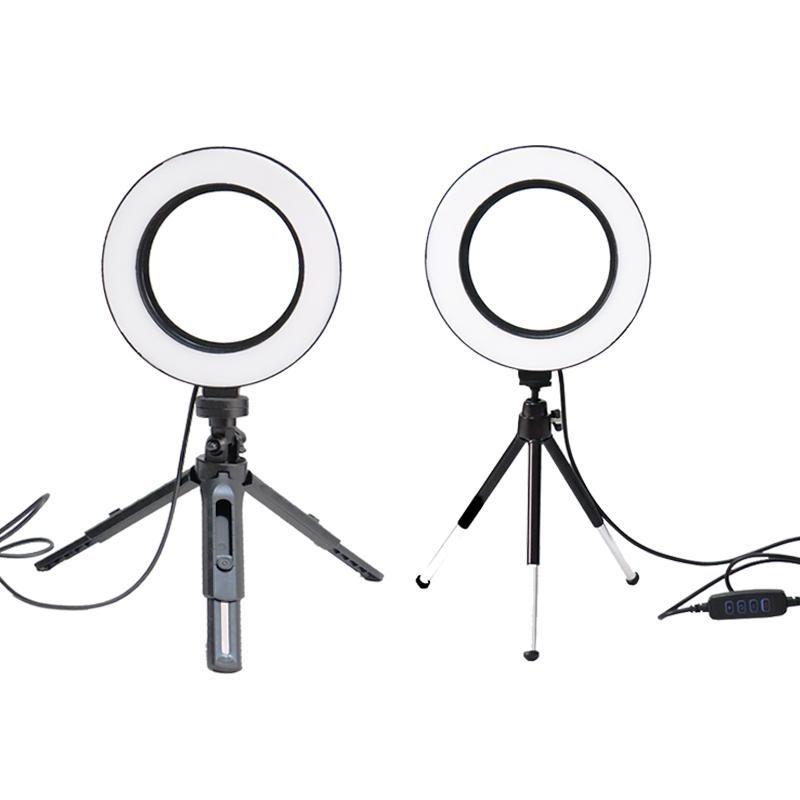altura BePotofone Photo Studio Video Phone mini-mesa de mesa LED Anel Luz 5500K 50 centímetros Fotografia Regulável Maquiagem Lamp Anel