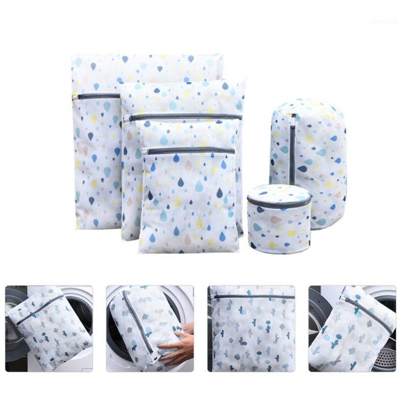 5 шт. Утолщенные напечатанные стиральные мешка для белья домашнее белье для домашнего белья Protection Wash Mesh Bag1