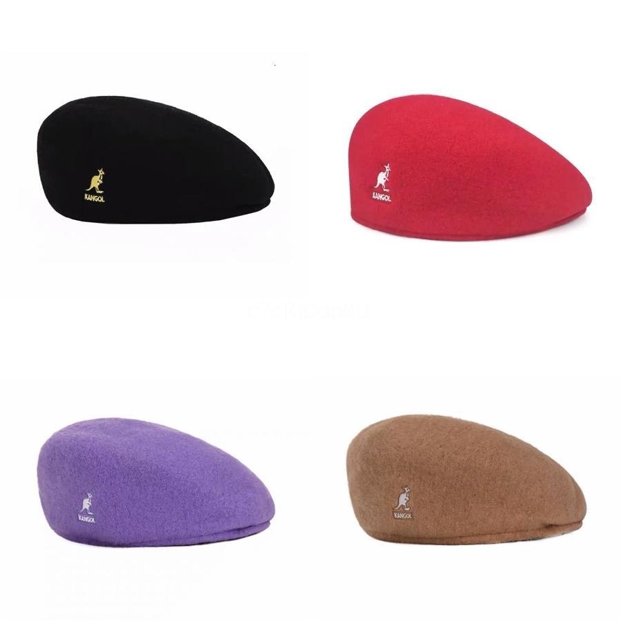 Новая прибывающая весна осень осень женщина шерсть кангол берет шляпы принцессы шапки MOQ: 50 шт. DHL бесплатная доставка # 613