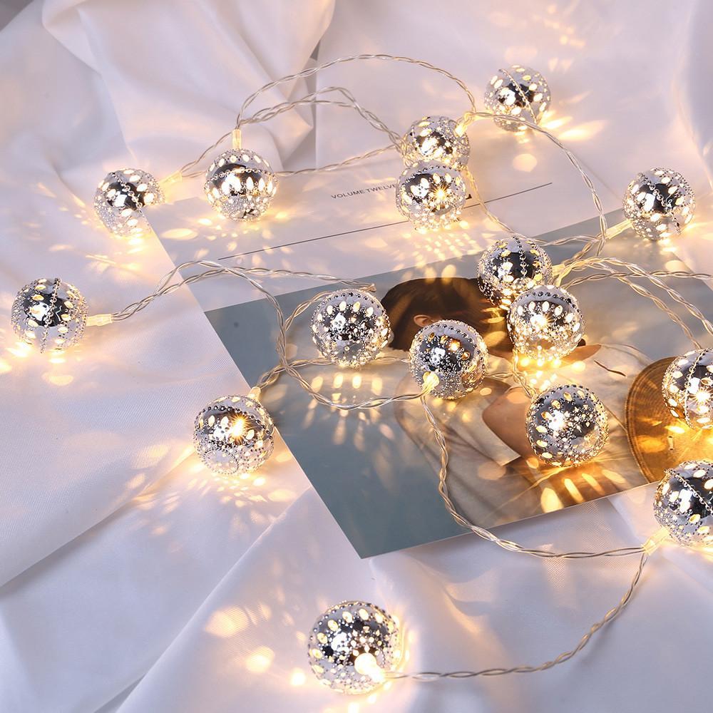 LED Marroquina Noite Light Chain Fada Garden String Luzes Pendurar Lanterna Ao Ar Livre Christmas Party Decor Decorative Lamp