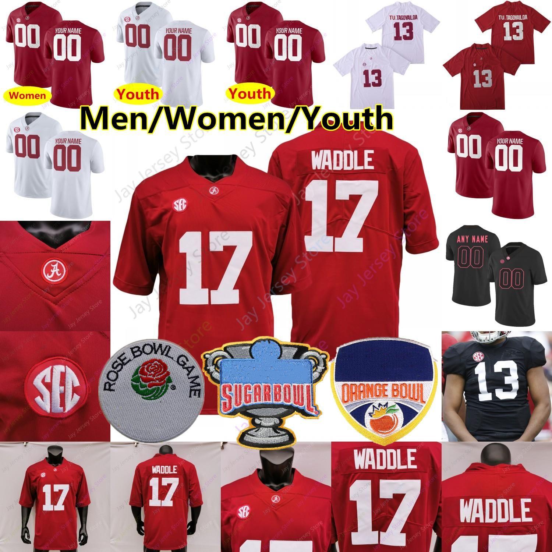 Custom 2021 Alabama Football Jersey Najee Harris Smith Jaylen Waddle Namath Mac Jones Trey Sanders Metchie III Bryce Jeune Surtain II Jeunesse