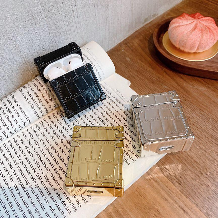 (2021) Newly designed 3-color leather (protective case) AirPods1-2 / AirPods Pro universal wireless Bluetooth headset storage box.