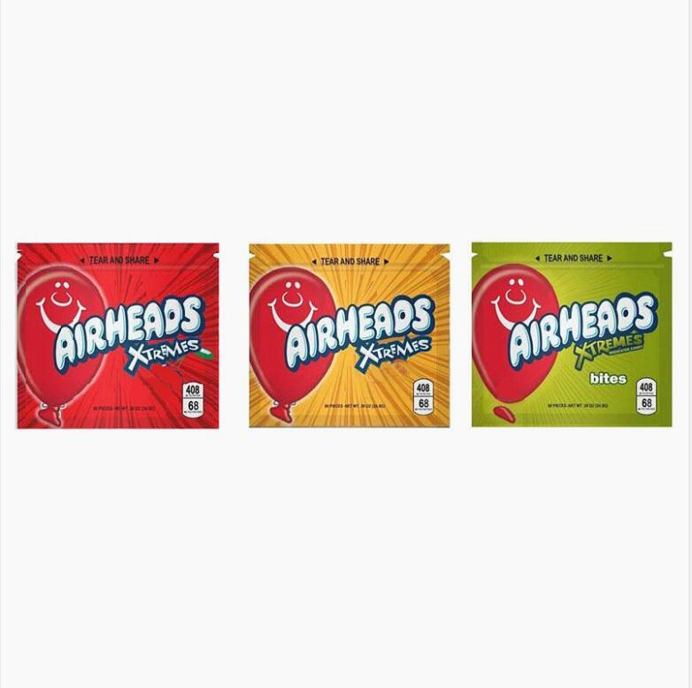 408mg Airheads xtremes bags Airheads edible packaging smell proof bags warheads edibles empty mylar bags