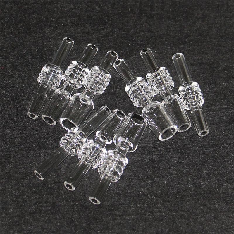Fumar Dica de Quartzo Real Domeless para Nectar Collector 10mm 14mm 18mm Joint Dab Palha Dicas Dicas de Quartznail Rig Glass Bong
