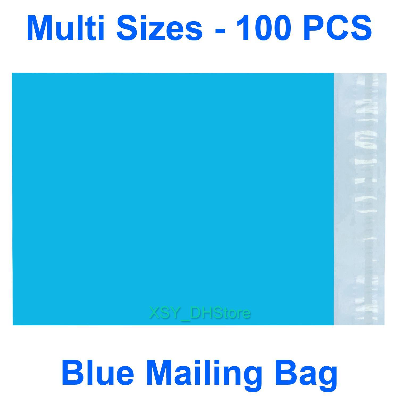 """Çok Boyutları 100 ADET Mavi Poli Posta Çantası Yastıklı Zarf Mailer (Genişlik 110 - 320mm, 4.3 """"ila 12.5"""") X (Uzunluğu 180 - 390mm, 7 - 16 inç)"""