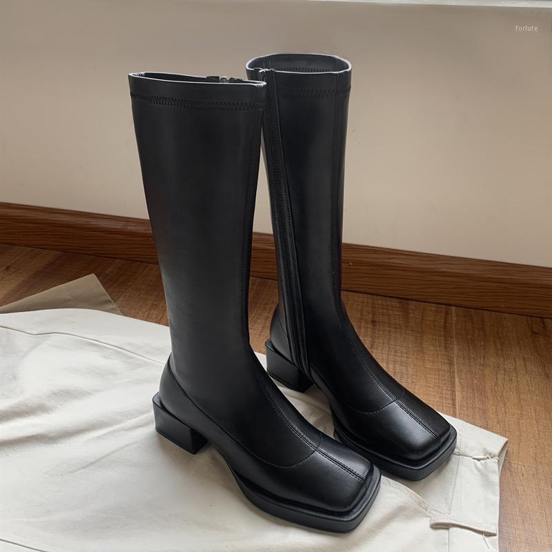 Элегантные женщины зимние сапоги натуральная кожа осень зима медные каблуки сапоги бортовые молнии новейшие танцевальные туфли женщины1