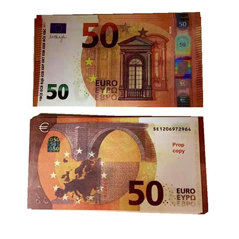 100 power argent faux argent argent 20 dollars EUR BRA FAUx Monnaie Euros J7 Movie Play Contrefaite Euros Billet 100pcs / Pack QVHJV IBMSF