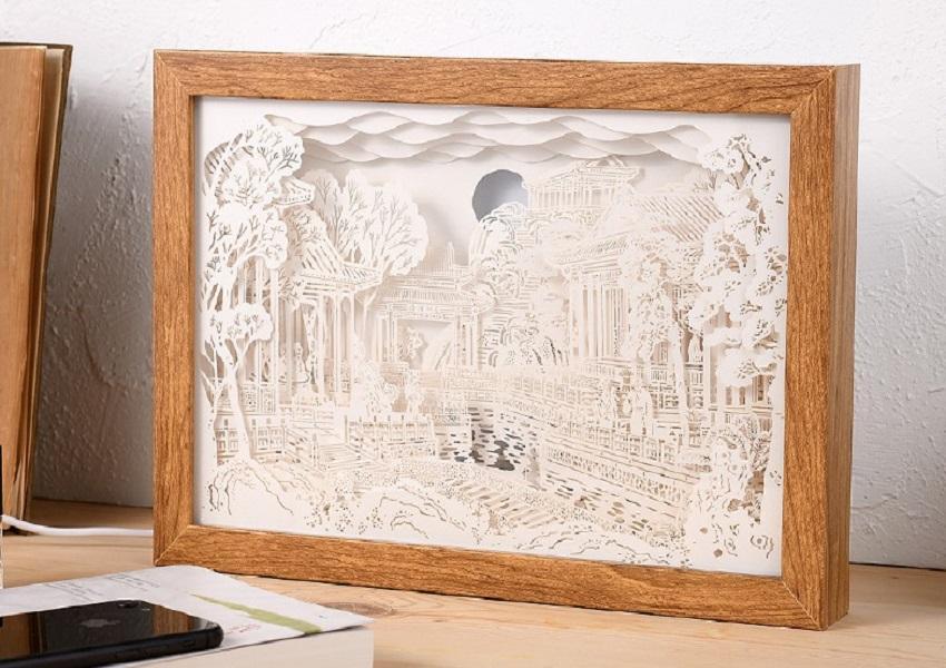test41 бумаги Carving лампа Grand View Garden ночник Chinoiserie Carving Art Paper Декоративное освещение