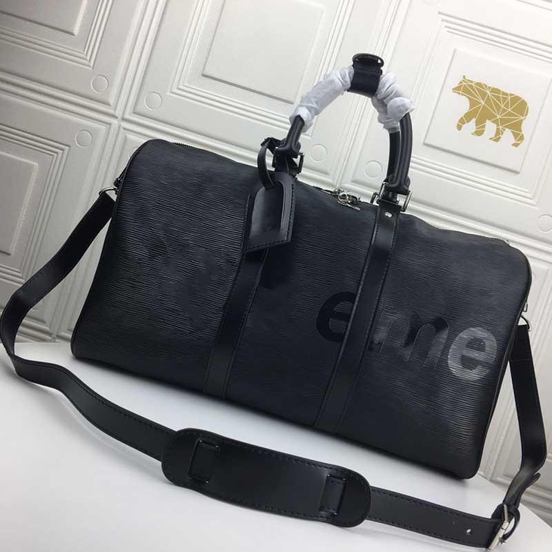 Bolso Bolsa de equipaje con mayor diseñador y hombre Maleta de moda Capacidad de equipaje de moda deportes de cuero Mujer de alta calidad LOC FKMGN