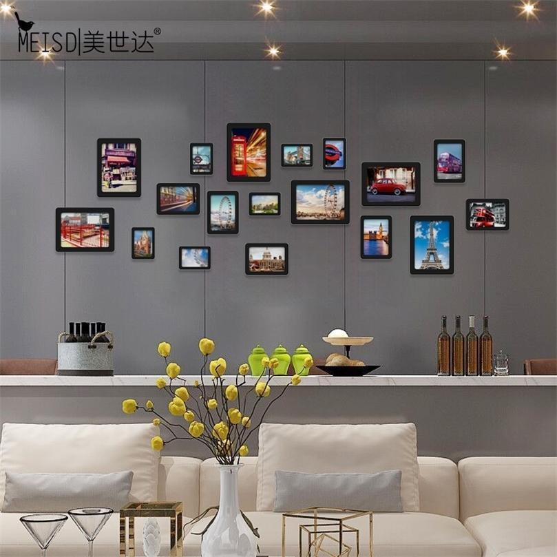 Livraison Gratuite Acrylique Famille Famille Wall Cadres Ensembles Seulement Stickers Mirror Modern Stickers Cadres Pour Picture Mur Art Poster Décor 201212